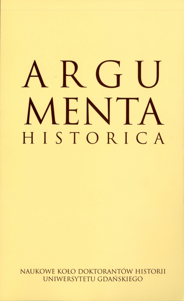 Argumenta Historica nr 1