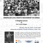 """Plakat """"Civil rights in songs"""""""